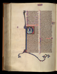 Historiated Initial To II Kings, In 'The Ashridge Petrus Comestor'
